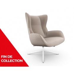 Fauteuil relax design cuir manuel STOCKHOLM