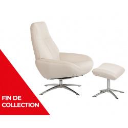 Fauteuil relaxation design avec repose-pieds OSLO