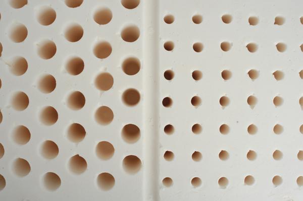 Bloc matiète latex avec alvéoles différenciées