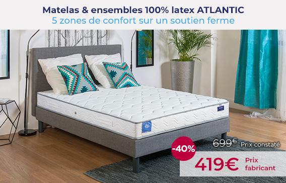 Soldes Matelas : Matelas latex atlantic encore moins cher !