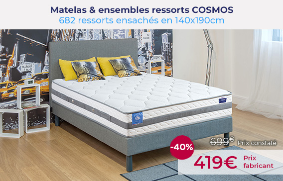 Soldes Matelas ressorts COSMOS encore moins chers !