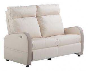 Canapé relaxation 1 moteur cuir bicolore FIDJI
