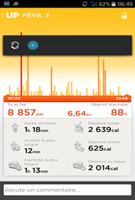 Screenshot 3 Jawbone UP