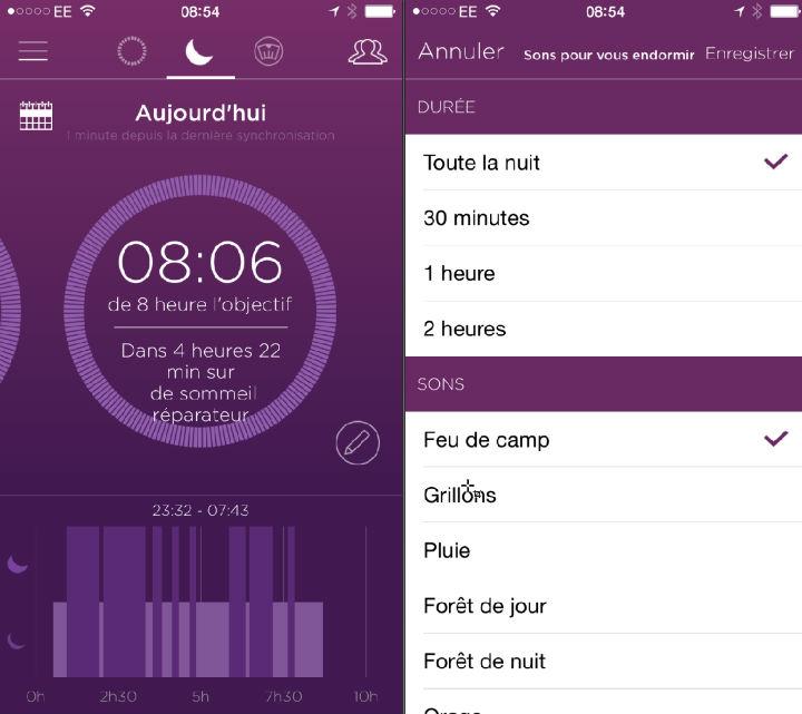 Analyse du sommeil MISFIT Flash