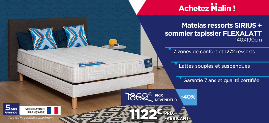 promotions matelas et sommiers r ductions sur les ensembles literie. Black Bedroom Furniture Sets. Home Design Ideas