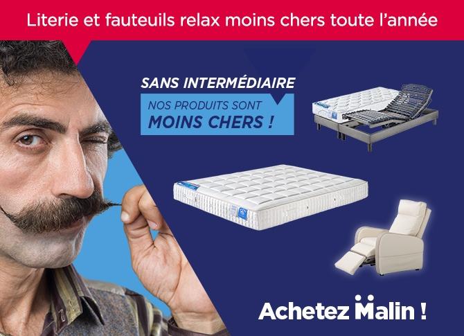 Matelas pas cher et literie en direct de l'usine : Achetez malin avec maliterie.com